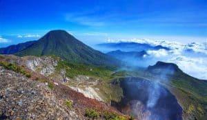 mount gede, gede mount, volcanoes