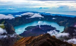 rinjani mountain, volcanoes, volcano