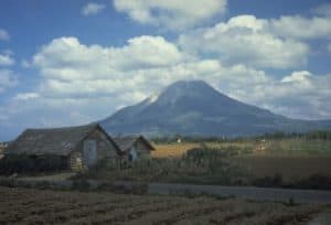 Sinabung mountain, volcanoes