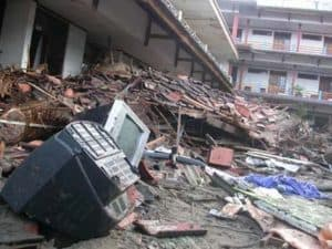 Earthquake, massive earthquake, destroyed earthquake. huge earthquake