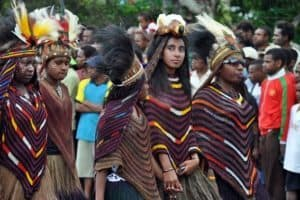 papua culture, dress, cloth