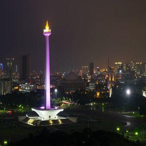 Jakarta Monas Tourism at Night