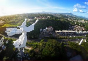 Christ Blessing statue in Manado