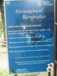 rules in Borobudur Temple