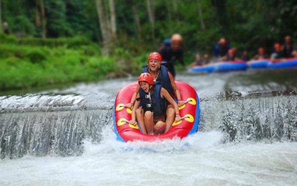 water tubing in bali